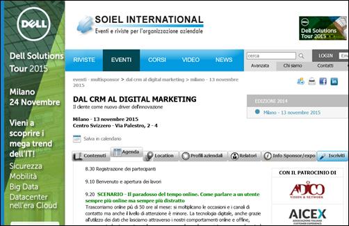 Dal CRM al DIGITAL MARKETING
